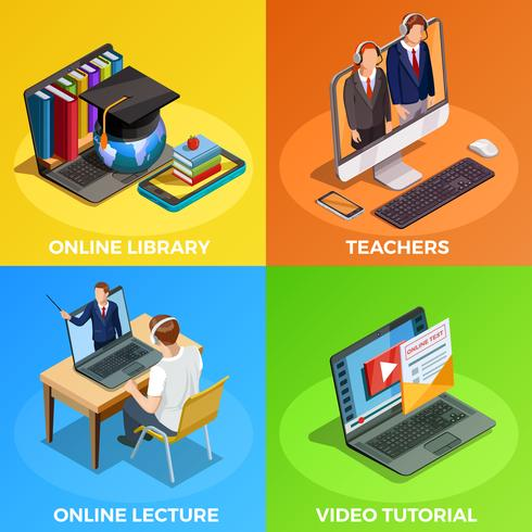 online tutoring concept with technical requirements