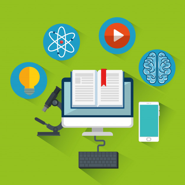 online education learnt with computer and smart phone